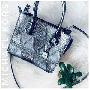 MICHAEL KORS metallic crossbody purse